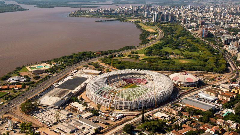 The Estadio Beira-Rio, in Porto Alegre, will have a capacity of 48,849.