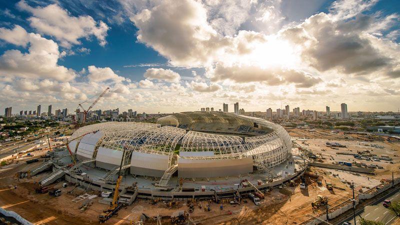 Estadio das Dunas Brazil World Cup stadium sunshine cloud
