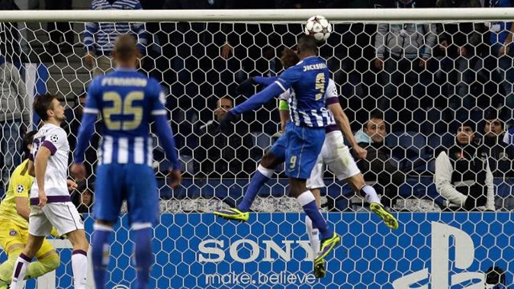 Jackson Martinez's goal rescued a point for Porto at home against Austria Vienna.