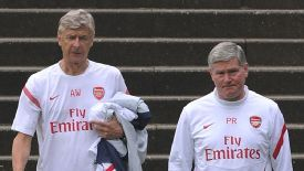 Arsene Wenger is hopeful over Pat Rice's recovery.