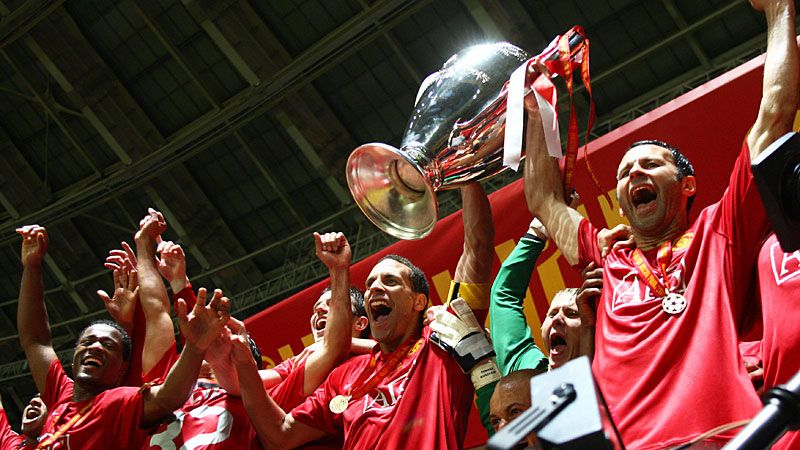 Man United beat Chelsea on penalties to win the Champions League in 2008.