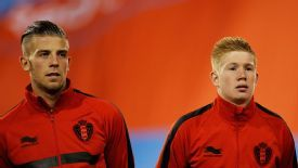 Toby Alderweireld plays alongside Kevin De Bruyne for the Belgian national team.