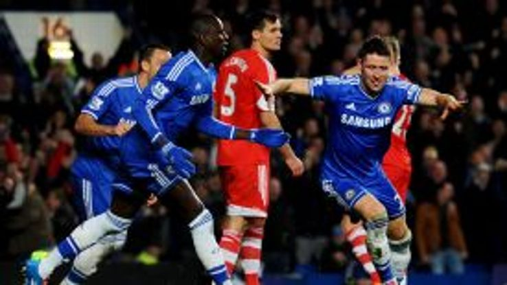 Gary Cahill nodded home Chelsea's equaliser against Southampton.