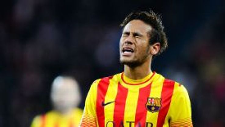 Neymar shows his frustration against Athletic Bilbao.