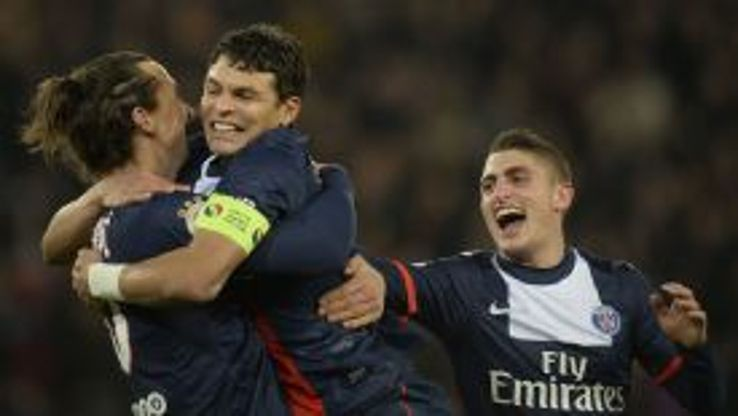 Thiago Silva was on target as PSG made light work of Lyon.