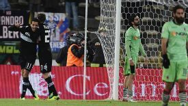 Siena's Zoumair Agharbi Feddal celebrates scoring the winning goal against Bologna.