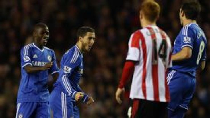 Eden Hazard completed the turnaround when scoring Chelsea's second goal at the Stadium of Light.