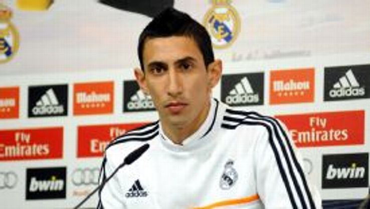 Angel Di Maria is reported to be concerned by his position in the pecking order at Real Madrid.