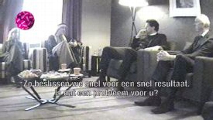 Den Bosch representatives attend a meeting with the fake 'Al Massir Group'.