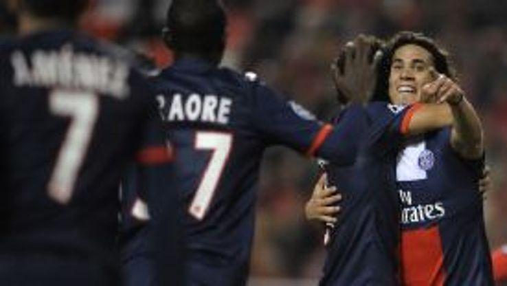 Edinson Cavani scored PSG's opener.