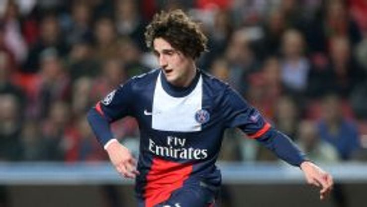 Adrien Rabiot played for PSG against Benfica on Tuesday.