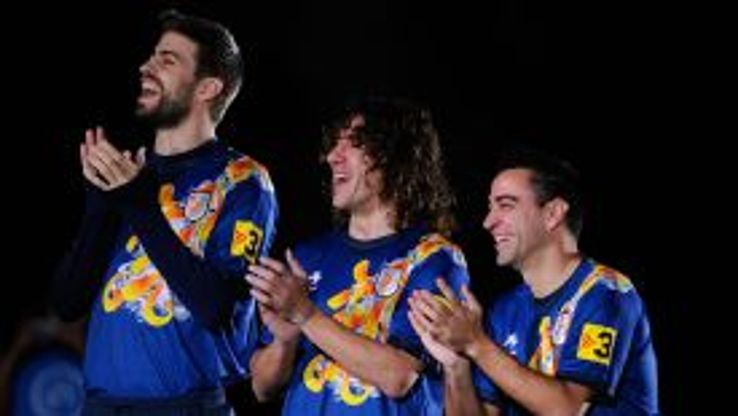 Gerard Pique, Carles Puyol and Xavi Hernandez played for Catalonia in a friendly against Nigeria in January.