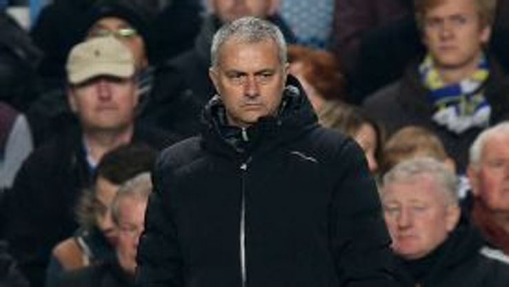 Jose Mourinho watches his Chelsea side edge to victory against Steaua Bucuresti in the Champions League.