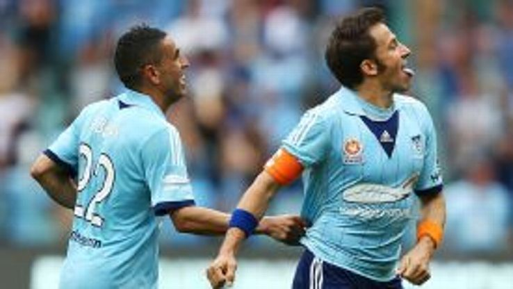 Alessandro Del Piero scored in the 43rd minute against Melbourne Heart.