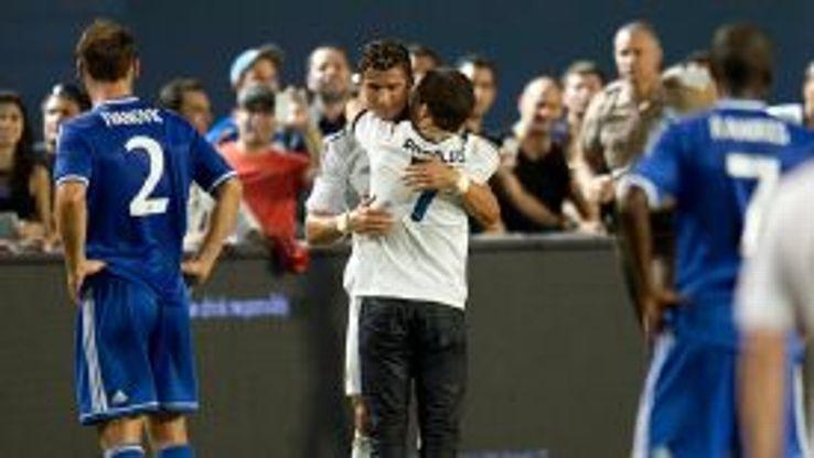 Ronald Gjoka invaded a pre-season friendly between Real Madrid and Chelsea to hug Cristiano Ronaldo.