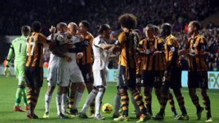 Swansea and Hull players were charged by the FA for their part in a fracas on Dec. 9.