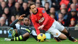 Mark Hughes feels Adnan Januzaj won too many free kick when Stoke played United in October.