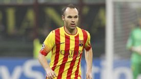 Andres Iniesta is one of the first names on the Barcelona team sheet.