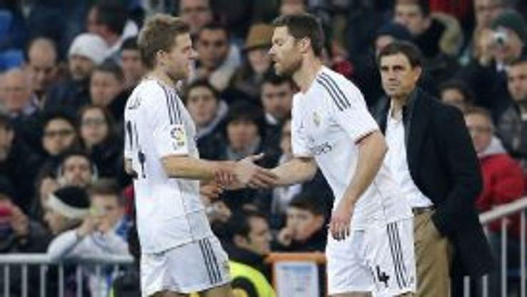 Xabi Alonso received a positive reception from the home fans during Wednesday's Copa del Rey match.