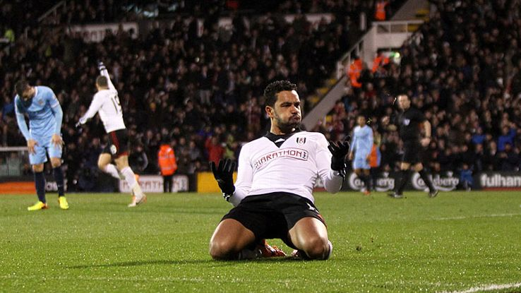 Kieran Richardson was on target to give Fulham hope against Manchester City.