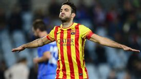 Cesc Fabregas scored twice in Barca's fine 5-2 comeback win at Getafe.