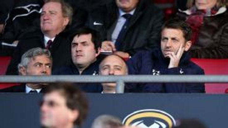 Tottenham Hotspur's interim manager Tim Sherwood (right) and Technical Director Franco Baldini