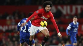 Fellaini had been playing on despite the wrist injury.