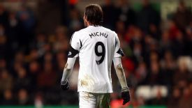 Michu has scored two goals in 12 Premier League appearances this season.