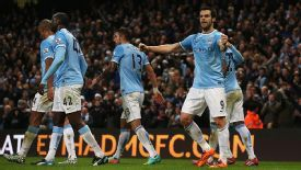 Alvaro Negredo was on target to make it 2-1 to Manchester City.