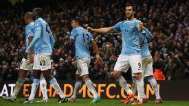 Alvaro Negredo was on target to make it 2-1 to Manchester City.