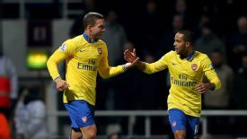 Lukas Podolski and Theo Walcott helped Arsenal recover against West Ham.