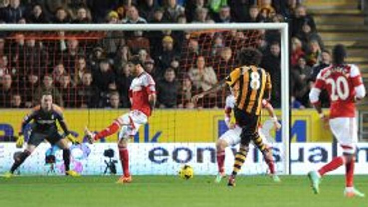 Tom Huddlestone ended his long wait for a goal with a long-range effort against Fulham.