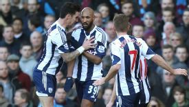 Nicolas Anelka performs the