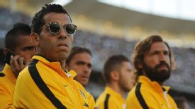 Carlos Tevez and Andrea Pirlo will hope to play a part in the meeting with second-placed Roma.