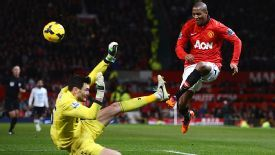 Ashley Young appeared to be caught by Hugo Lloris after putting a cross into the area.
