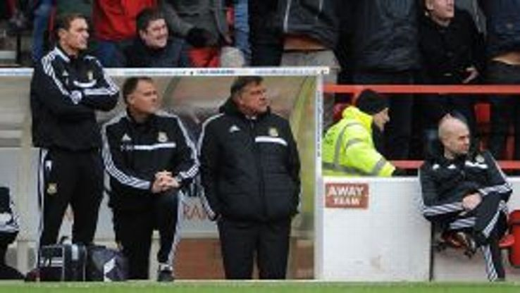 Sam Allardyce saw his inexperienced West Ham side humiliated against Championship club Nottingham Forest.