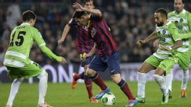 Lionel Messi made his return from injury against Getafe.