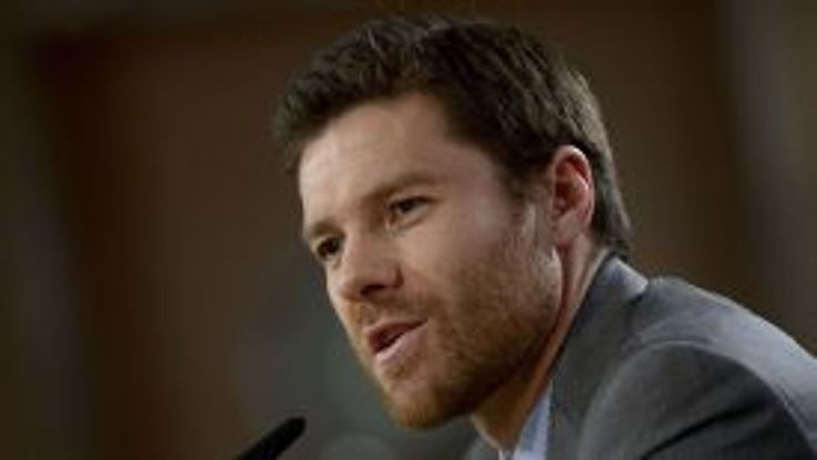 Xabi Alonso addresses the media in Spain on Friday.