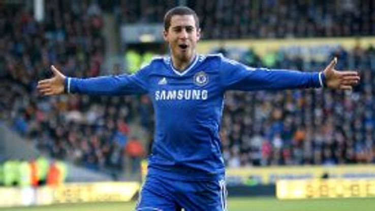 Eden Hazard soaks up the atmosphere after firing Chelsea in front in style.