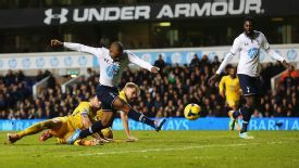 Jermain Defoe nets a goal for Spurs from off the bench.