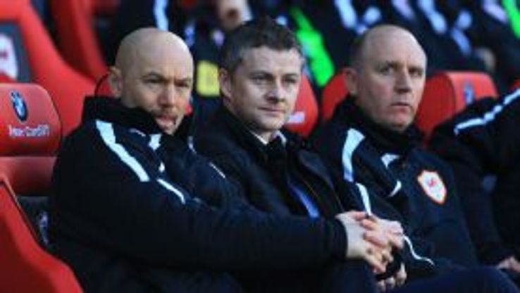 Cardiff City's manager Ole Gunnar Solskjaer before his first home match.
