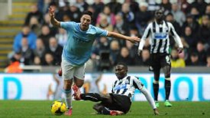 Samir Nasri faces a spell on the sidelines after Mapou Yanga-Mbiwa's tackle.
