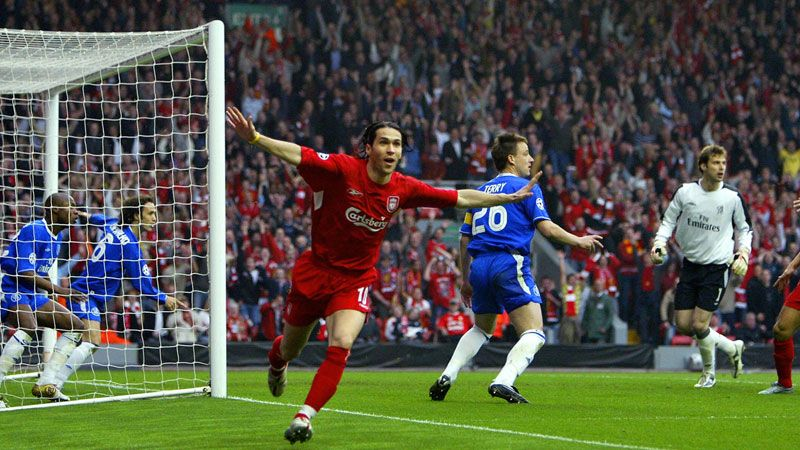 Luis Garcia celebrates after his controversial