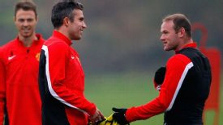 Wayne Rooney and Robin van Persie Manchester United