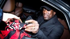 Seedorf was mobbed by fans on his return to the San Siro.
