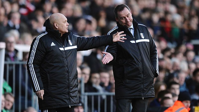 Fulham's assistant manager Ray Wilkins (left) and manager Rene Meulensteen have a job to do to turn things around.