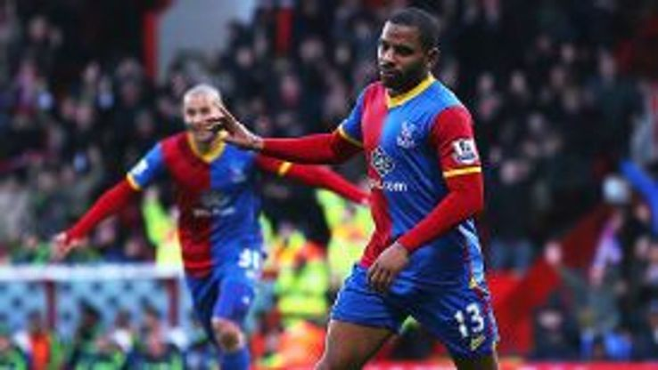 Jason Puncheon put Crystal Palace a goal to the good against Stoke City.