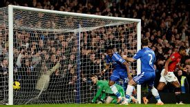Samuel Eto'o completes a 32-minute hat trick against Manchester United.