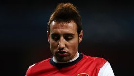 Santi Cazorla insists he was unaware of what had been written on the sign.