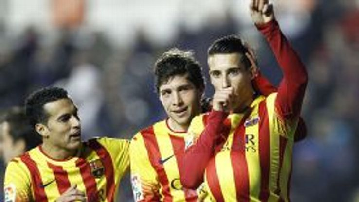 Cristian Tello secured the match ball after scoring a hat trick against Levante in the Copa del Rey.